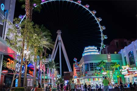 The High Roller Obsrevation Wheel at the LINQ